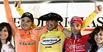 Le podium final du Tour du Pays Basque 2007: Sanchez, Cobo, Vicosos