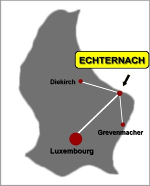 Geographic situation of Echternach